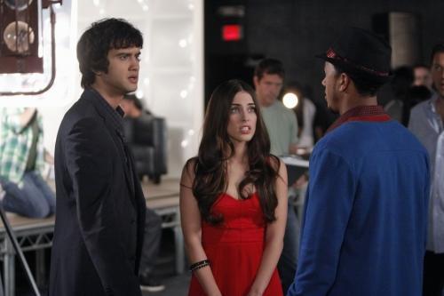 Adrianna and Navid on Set