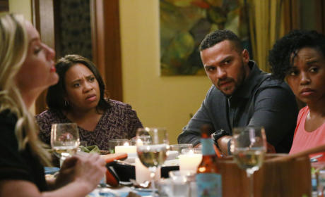 Confused Party Guests - Grey's Anatomy Season 12 Episode 5