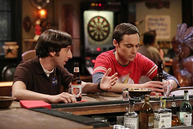 Sheldon and Howard at the Bar