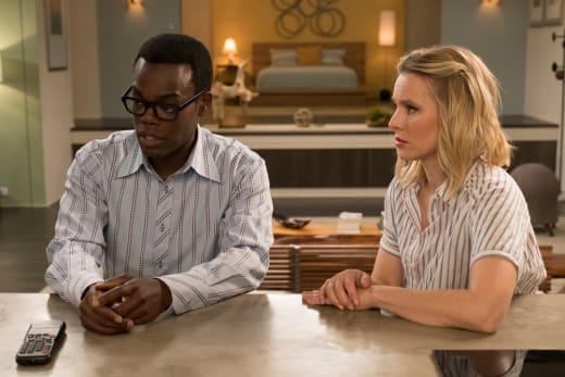 Chidi and Eleanor - The Good Place Season 2 Episode 8