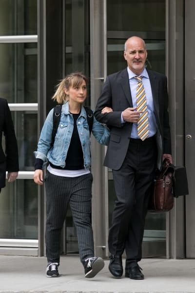 Allison Mack at the Court