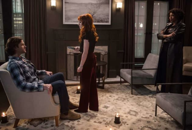 Billie, Rowena, And Sam - Supernatural Season 13 Episode 19