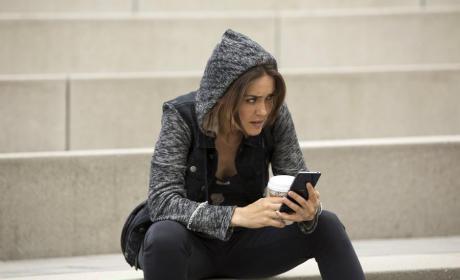 Liz on the Steps - The Blacklist Season 2 Episode 1
