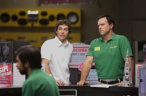 Chuck Smiles as Casey Looks Serious