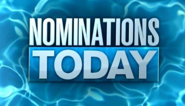 Big Brother - Nominations Today Sign