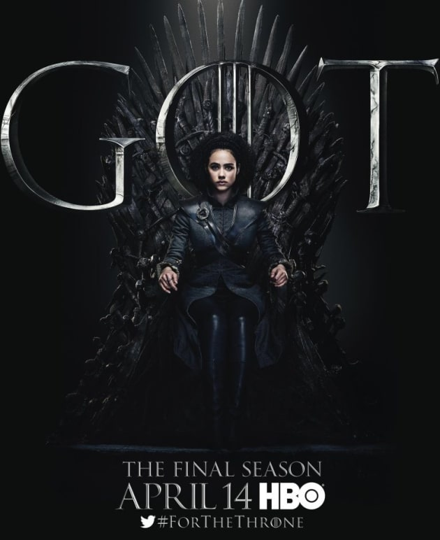 Missandei on the Iron Throne - Game of Thrones