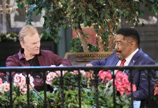 Abe Confides in Roman - Days of Our Lives