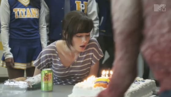Blowing Out Her Cake