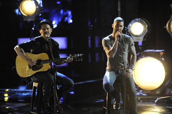 Tony Lucca and Adam Levine