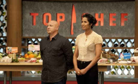 Tom Colicchio and Padma Lakshmi