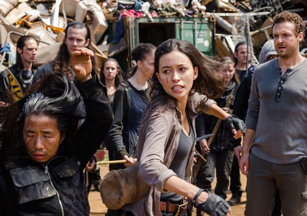 Rosita takes a swing - The Walking Dead Season 7 Episode 10
