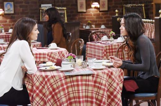 Hope and Ciara Talk About Wyatt - Days of Our Lives