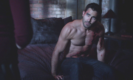 Derek Hale, Shirtless