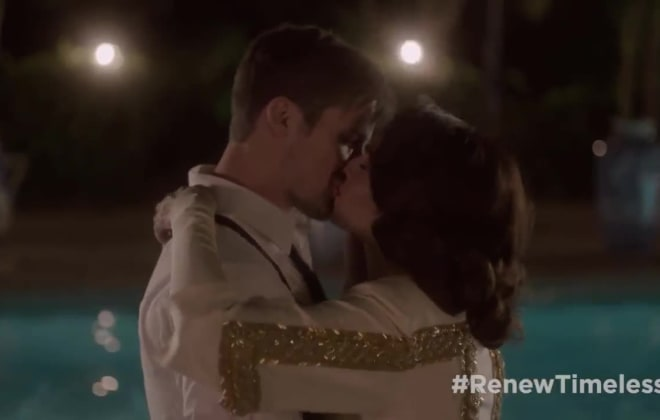 Timeless Clip: See Lucy and Wyatt's Unaired First Kiss!