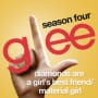 Glee cast diamonds are a girls best friend material girl