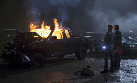 Burning Truck - Supernatural Season 10 Episode 13