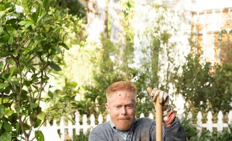 Mitch Trying to Garden - Modern Family Season 10 Episode 9