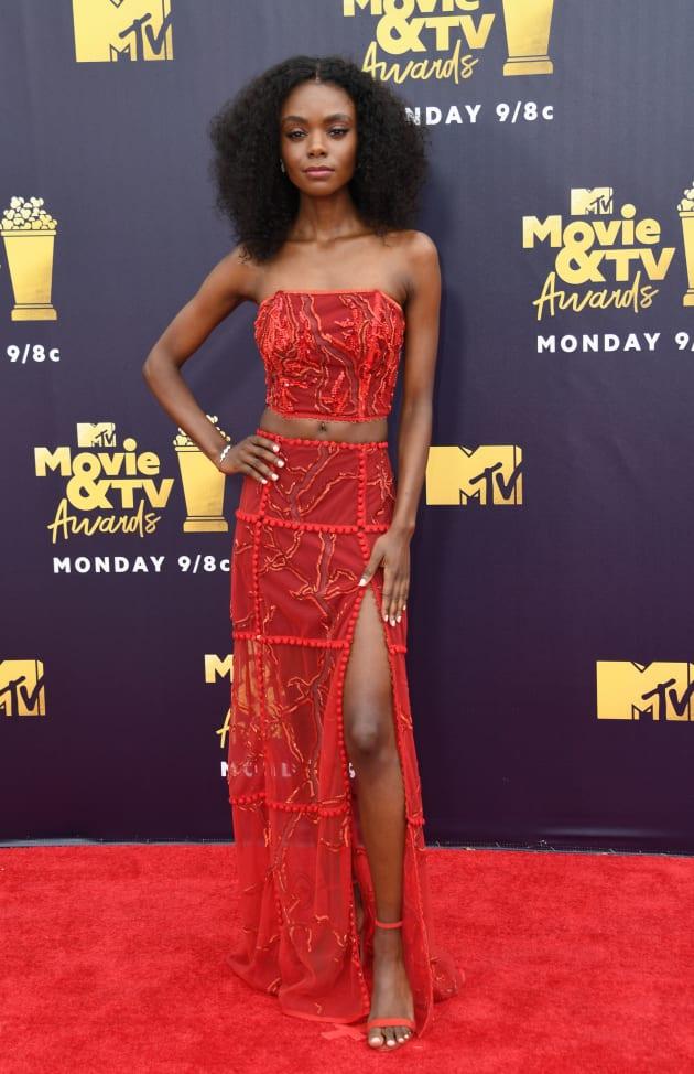 Ashleigh Murray Attends MTV Movie & TV Awards