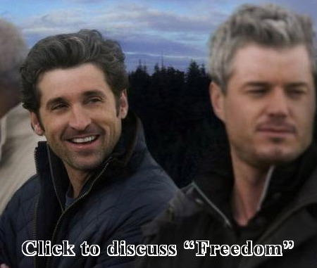 """Discuss """"Freedom"""" in our Grey's Anatomy Forum!"""