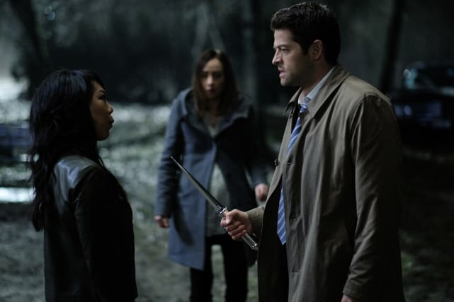Castiel faces off with Dagon - Supernatural Season 12 Episode 19