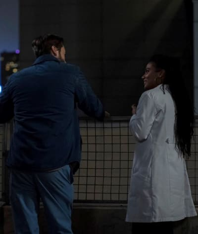 Their Rooftop - Tall - New Amsterdam Season 3 Episode 1
