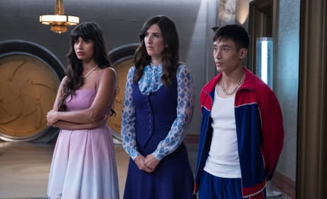 Tahani, Janet, and Jason - The Good Place Season 2 Episode 13