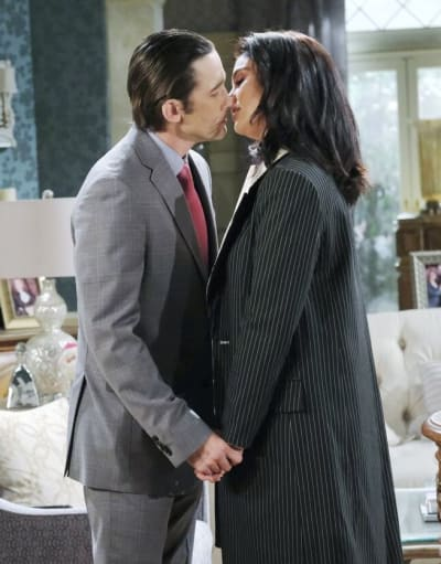 Philip Kisses Chloe/Tall - Days of Our Lives