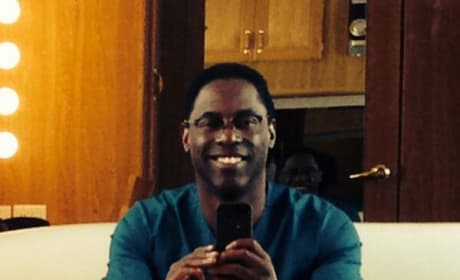 Isaiah Washington Selfie