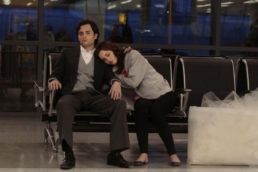 Dan and Blair at the Airport