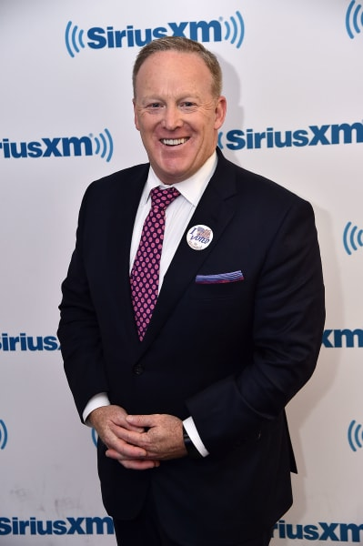 Sean Spicer Poses at SirusXM Event