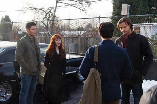 Sam, Dean and Rowena stop Gavin - Supernatural Season 12 Episode 13
