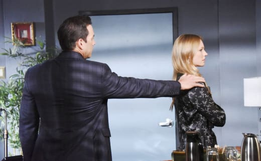 Stefan Blackmails Abigail - Days of Our Lives