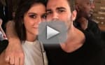 Paul Wesley Surprises Nina Dobrev On Set Of Her New Show