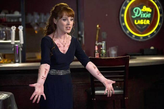 Rowena's Tattoos - Supernatural Season 10 Episode 17 - TV
