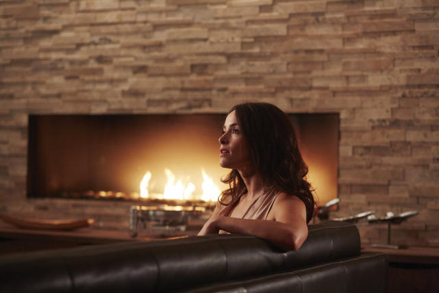 Scottie by the Fire