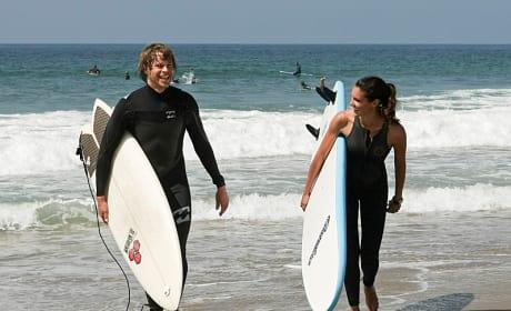 Kensi and Deeks Surfing