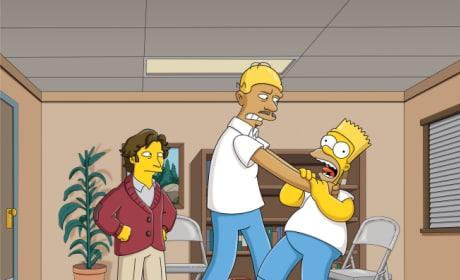 Paul Rudd and Kareem Abdul-Jabbar on The Simpsons
