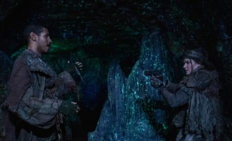 Xavier and Diyoza Face Off - The 100 Season 6 Episode 6