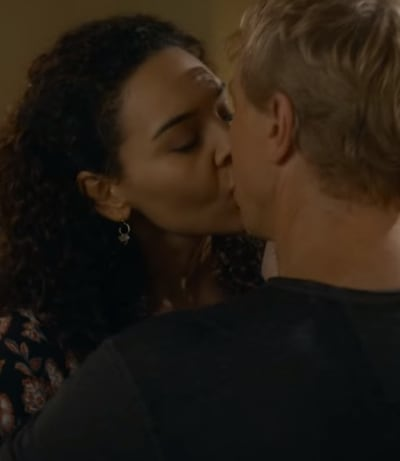 Carmen Kisses Johnny  - Cobra Kai Season 3 Episode 8