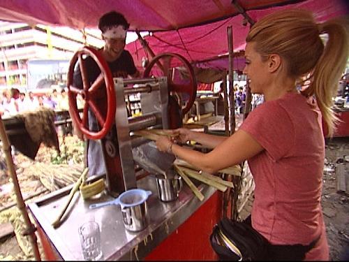 Jill and Thomas Press Sugar Cane