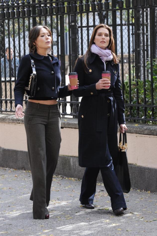 Lindsay and Brooke on Set