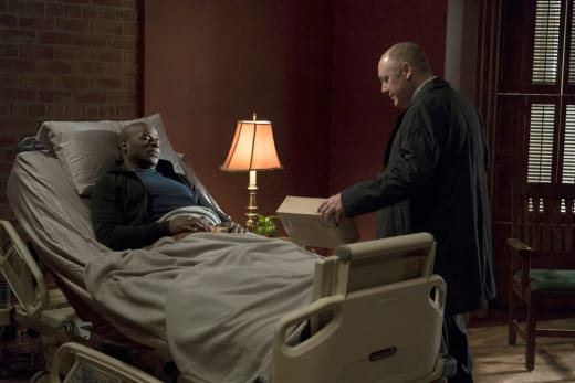 Red's got a package - The Blacklist Season 4 Episode 18