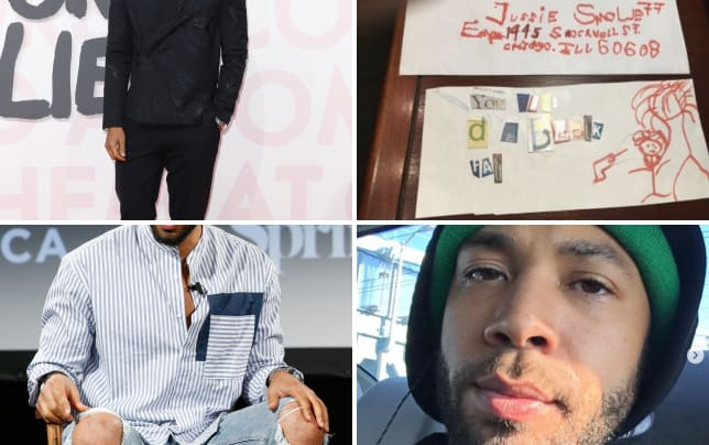 Jussie smollett attends fashion show