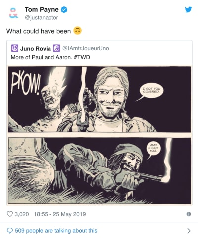 tom payne tweeter