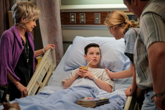 Sheldon's In The Hospital - Young Sheldon