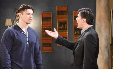 Deimos Berates Xander - Days of Our Lives