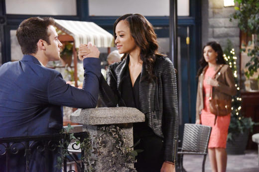 JJ and Lani Flirt - Days of Our Lives