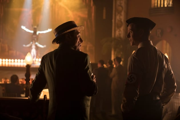 Grimnir and a Nazi - American Gods Season 2 Episode 6