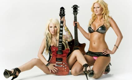 Daisy De La Hoya and Megan Hauserman Pose for Guitar World Buyer's Guide