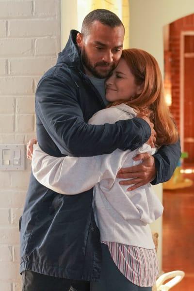 Japril Hugs Again  - Grey's Anatomy Season 17 Episode 14